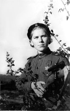 A dangerous woman in the most literal sense, Senior Sergeant Roza Shanina was a sniper in the WWII Soviet Army. She racked up at least 54 kills of German soldiers before her death from wounds at age 20. She served part of the time in an all-woman sniper unit.    Before the war she worked as a kindergarten teacher.