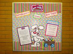 Big Smiles from Kbear - April Box Tops Bulletin Board  #Doodle Dragon Studios , #Dustin Pike,  #Box Tops for Education