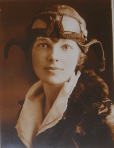 Amelia Earhart was the first female pilot to fly solo across the Atlantic Ocean.  She set other records, wrote bestselling books about her experiences and helped create The Ninety Nines, an organization for female pilots.  In 1937 she attempted to fly around the world.  She disappeared over the central Pacific Ocean.  Her disappearance remains a mystery to this day.