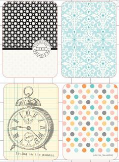 free printable Project Life cards - Fillers