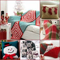 Spreading Christmas Cheer: 12 Knit Afghan Patterns + PIllows— There's no better way to escape the harsh winter chill than to snuggle up with a cozy knit afghan. Since most knit afghan patterns require only basic knitting stitches, you don't have to be a professional to learn how to knit a blanket and join in on the fun. You're literally stitches away from adding your very own knit afghan to your home.