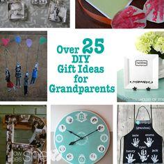 Over 25 DIY Gift Ideas for Grandparents #howdoesshe #giftgiving howdoesshe.com