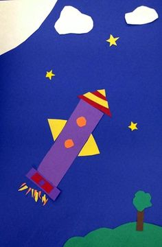 3rd Grade - Shape - Construction paper collage
