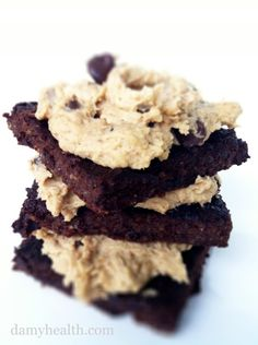 quinoa brownies with cookie dough frosting!