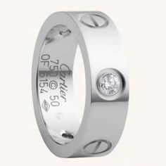 Cartier love ring white gold screws with diamonds  $ 39.99
