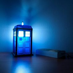 Can't do a space-themed nursery without a Tardis night light