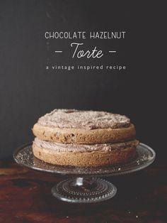 Chocolate Hazelnut Torte #recipe