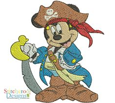 Mickey Pirate filled embroidery set.