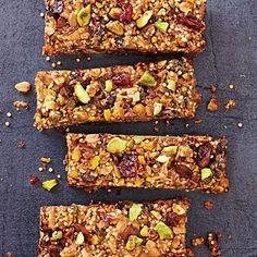 Grab-and-go Breakfast: Cranberry-Pistachio Energy Bars | CookingLight.com