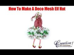 ▶ How To Make A Deco Mesh Christmas Elf Hat Wreath - YouTube I do believe this is the exact pattern for the deco witch's hat I just bought at a fall craft fair. It even gives the link for where to get the exact supplies. Wonder if I could do in lime and turquoise?