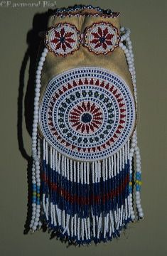 Comanche beaded bag....