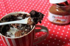 YUMMY TUMMY: 2 Minute Eggless Nutella Mug Cake made in Microwave - Seriously Addictive