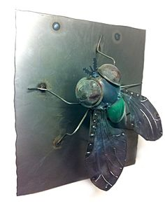Bug metal art, created by Joel Sullivan of Iron Designs in Nova Scotia, www.facebook.com/... SOLD