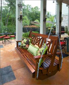 Exotic Wooden Porch Swing Ideas Woodworking Projects