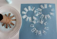 Paper Tube Snowflake Stamps makeandtakes.com (I'm thinking good for yellow sunshine too)