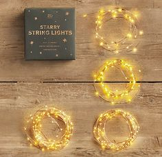 starry string lights in silver