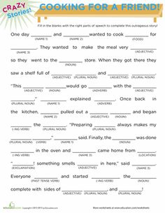 fill in the blanks story worksheets pdf