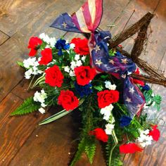 memorial day saddle flowers