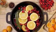 Bring the scent of the holidays to your home with this quick recipe. Before you know it, the scent of orange and cinnamon will be wafting through your home, warming the air with spice and cheer.