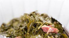 Sauteed Collard Greens with Bacon and Smoked Ham
