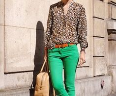 love the green and animal print