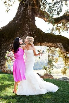 Take a special bride and maid of honor picture!