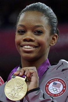 Golden Gabby!  Gabby Douglas: Women's All-Around Final - Gymnastics Slideshows   NBC Olympics  I love her