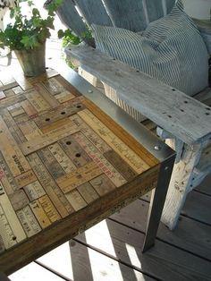 Repurpose vintage yardsticks and rulers!