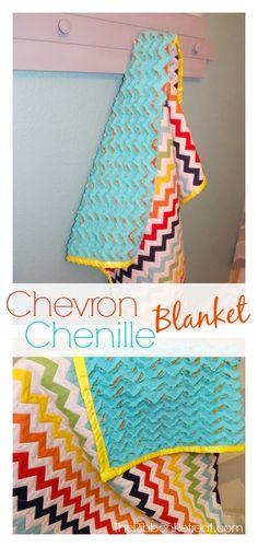 Chevron Chenille Blanket - The Ribbon Retreat Blog