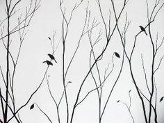 Ideas para pintar paredes ramas y pájaros 2