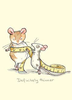 Definitely Thinner - A Weight Watchers Card by Anita Jeram
