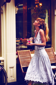 stripes + lace make a darling dress from Free People