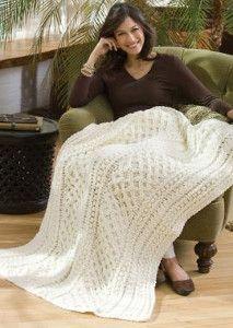 Lattice Crochet Cable Pattern   AllFreeCrochetAfghanPatterns.com