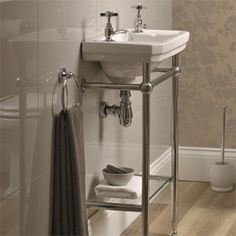 Downstairs loo on pinterest thomas crapper cloakroom basin and victorian toilet - Slim cloakroom basin ...