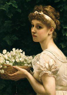 Edward John Poynter (1836-1919) Pea Blossoms.