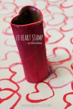 10 Heart stamping activities