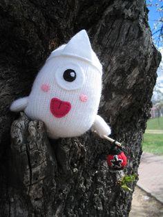 Obake, a Japanese ghost #knit #knitting #waybackhack #knithacker