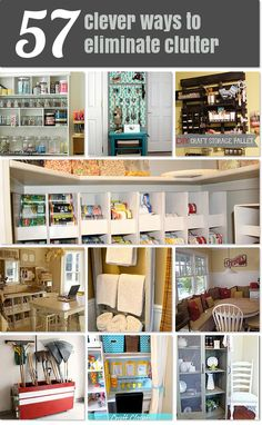 57 clever ways to eliminate clutter
