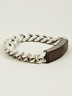 MAISON MARTIN MARGIELA 11: BRASS CHAIN WITH LEATHER