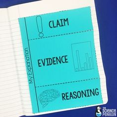 All-Around Interactive Science Notebook Templates by The Science Penguin-- Claim, Evidence, and Reasoning template