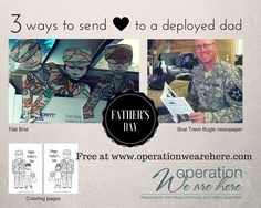 Creative ways to celebrate deployed military dads this Father's Day! #milfam #milchild #deployment All free to download.