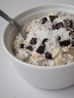 Overnight Coconut Oatmeal #coconutmilk #vegan #gf (if using gf oats)