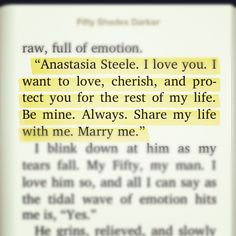 One of my favorite parts from Fifty Shades Darker. Christian Grey is truly a born romantic! <3