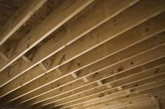 "How to ""finish"" basement ceilings on the cheap."