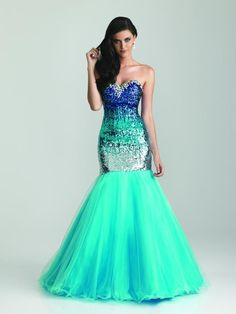 Mermaid Gown - Turquoise