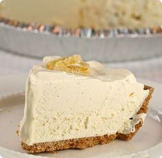 Frozen Lemonade Pie  - No Bake