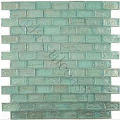 green sea glass backsplash with white cabinets i can see it now