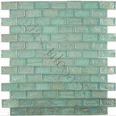 isi crystile solids 1 x 3 aqua glossy aqua glass