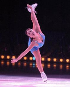 Michelle Kwan and her signature spiral.