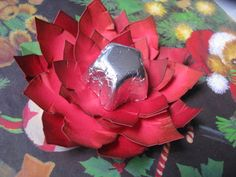 Christmas Chocolate Poinsettia Tutorial
